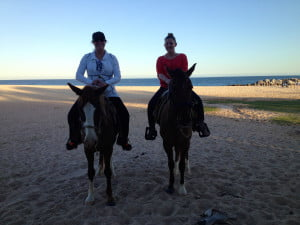 Horseback riding in Hawaii with my dear daughter.